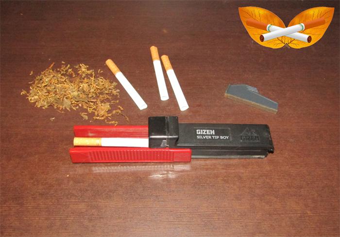 masinka GIZEH+ zabivka tabaka v gilzy